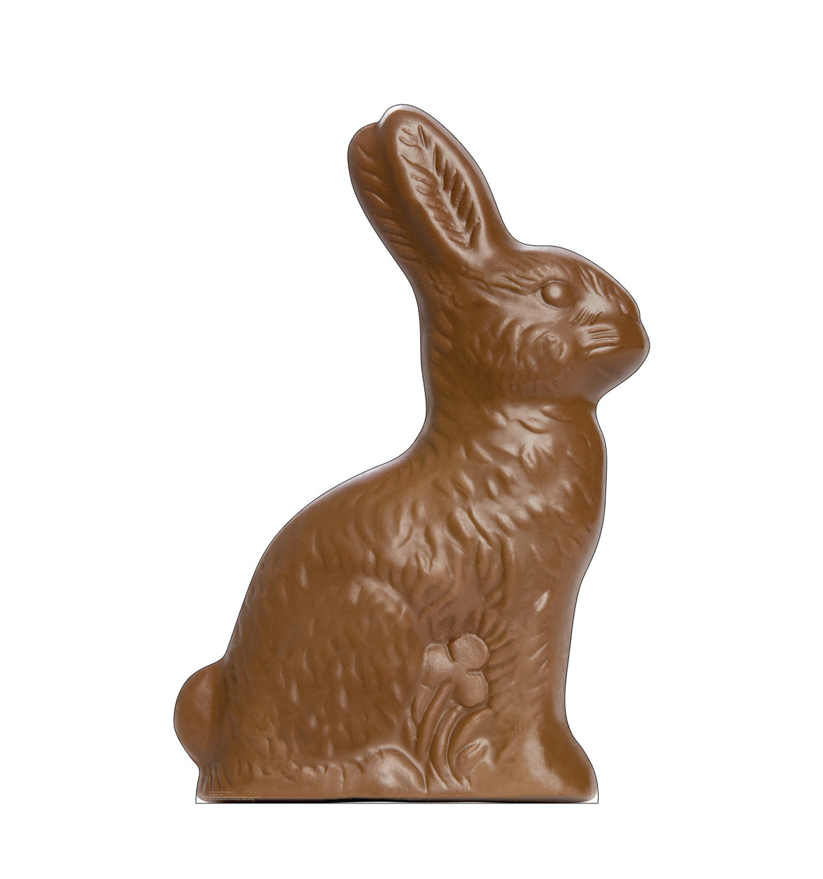 Life-size cardboard standee of a Chocolate Easter Bunnys.