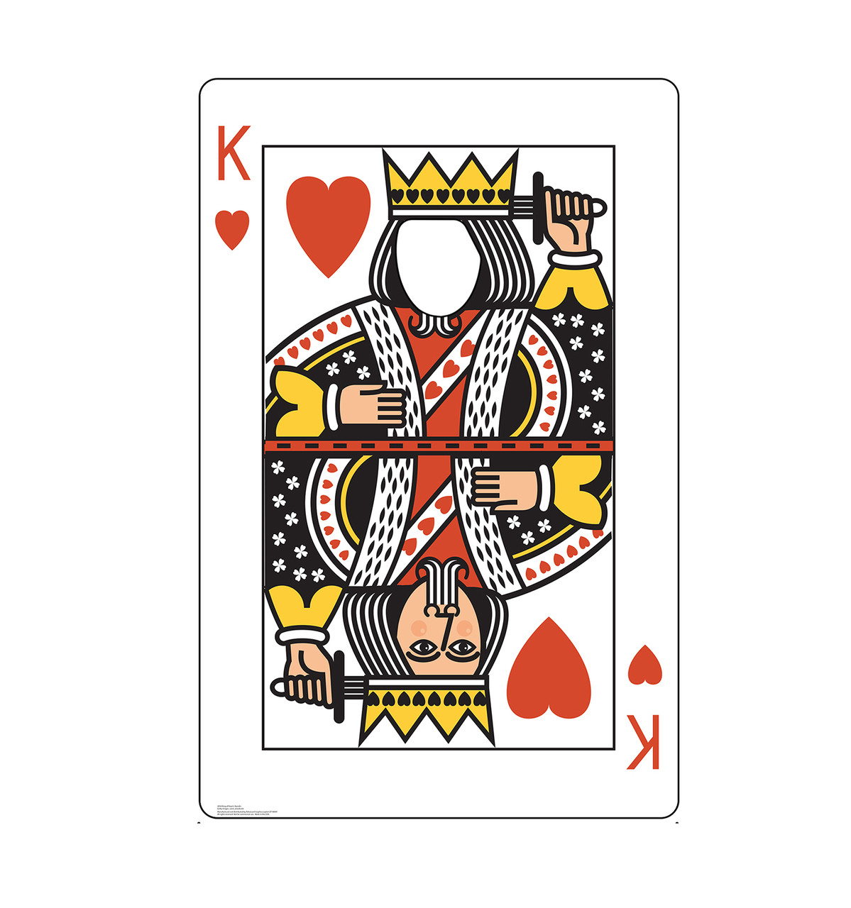 Life-size cardboard standee of the King of Hearts Card standin.