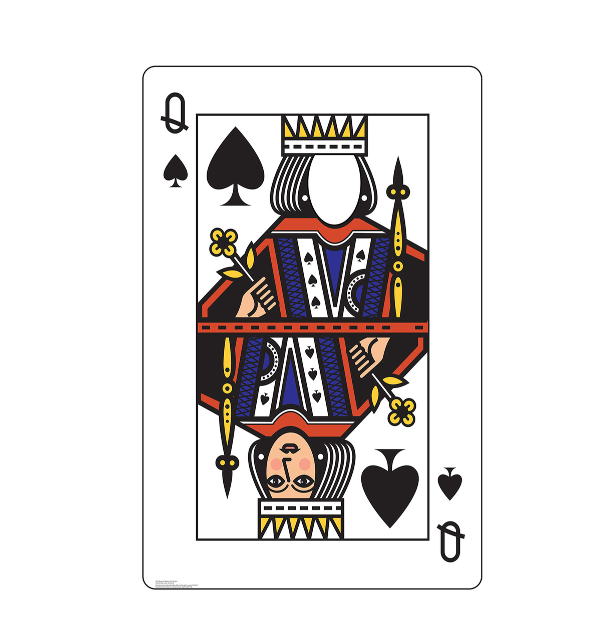 Life-size cardboard standee of the Queen of Spades Card standin.