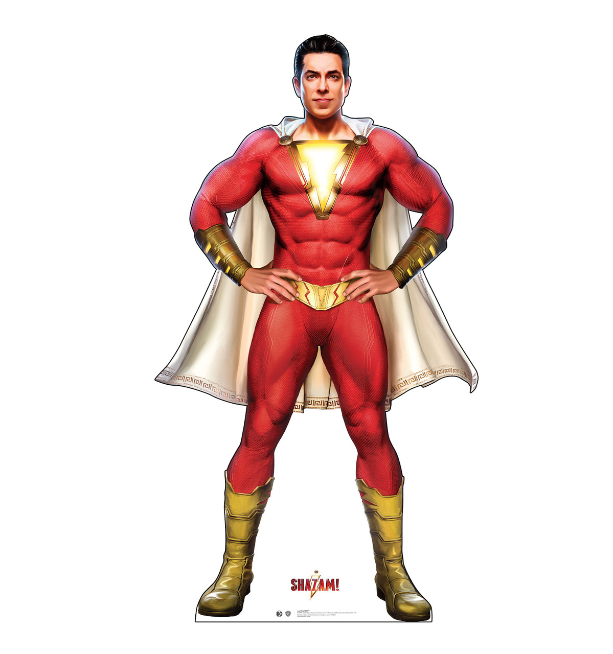 Life-size cardboard standee of the super hero Shazam!