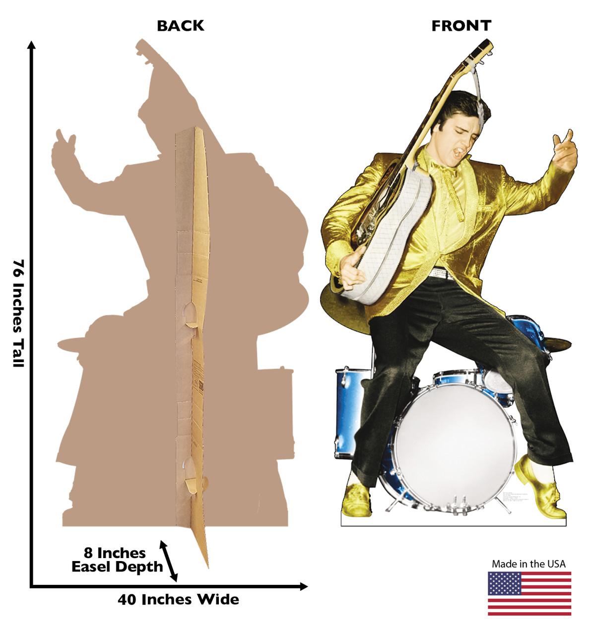 Elvis Drums - Talking Cardboard Cutout 499T