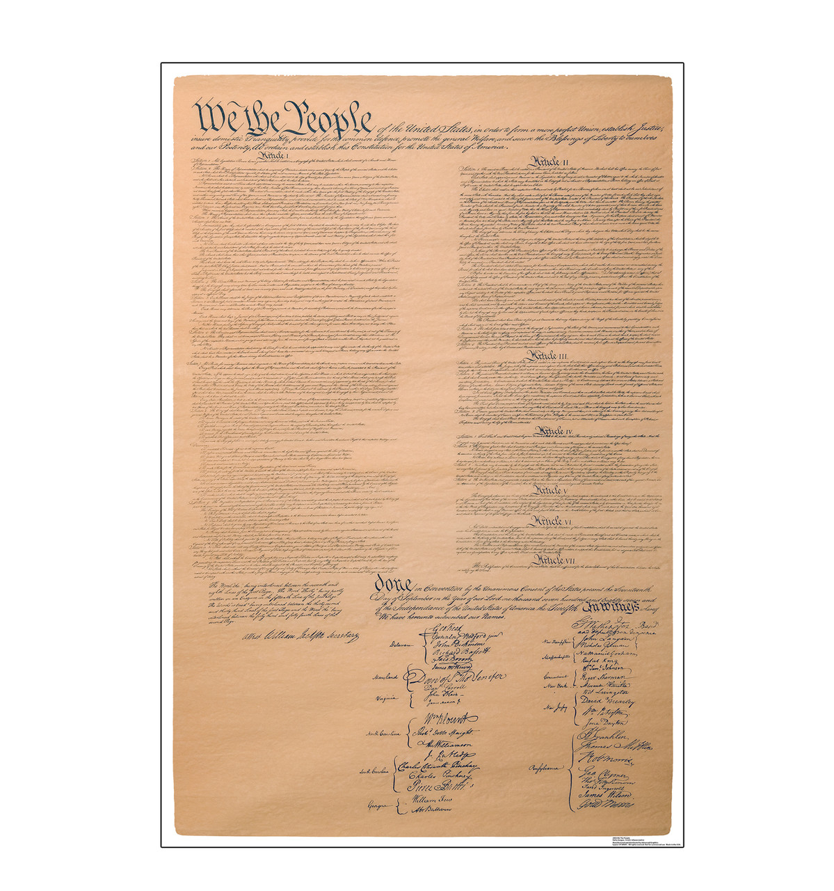 Life-size cardboard standee of We The People, US Constitutions.
