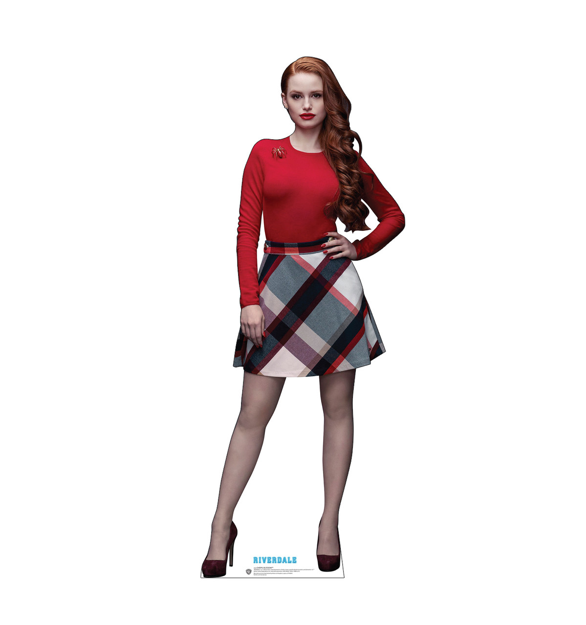 Life-size cardboard standee of Cheryl Blossom from the TV Series Riverdale.