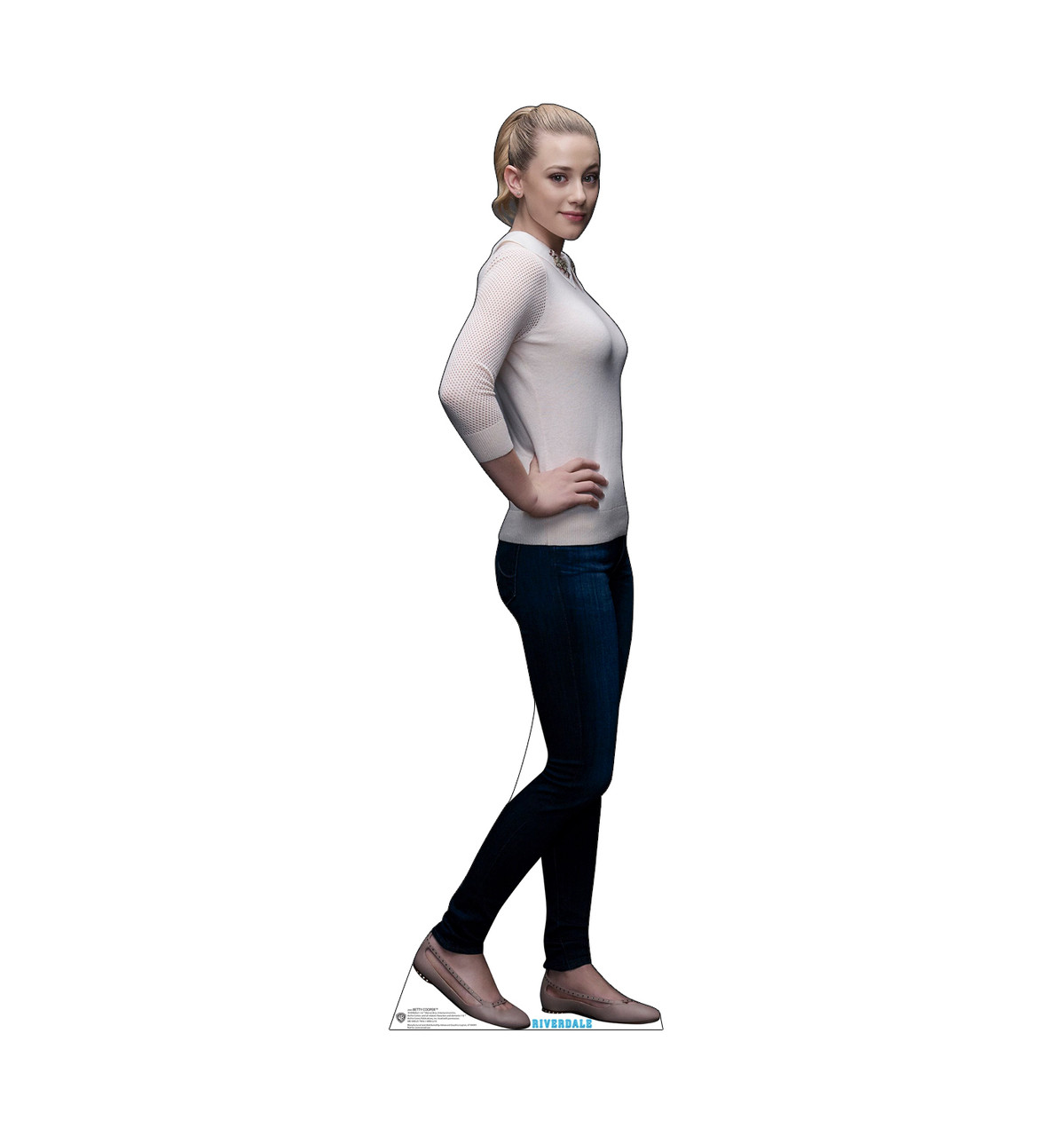 Life-size cardboard standee of Betty Cooper from the TV Series Riverdale.