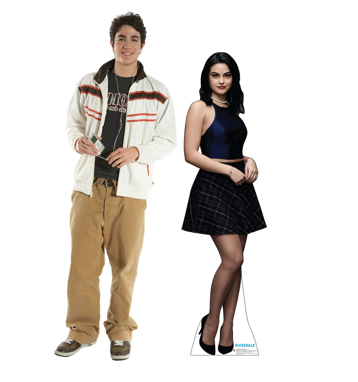 Life-size cardboard standee of Veronica Lodge from the TV Series Riverdale with model.