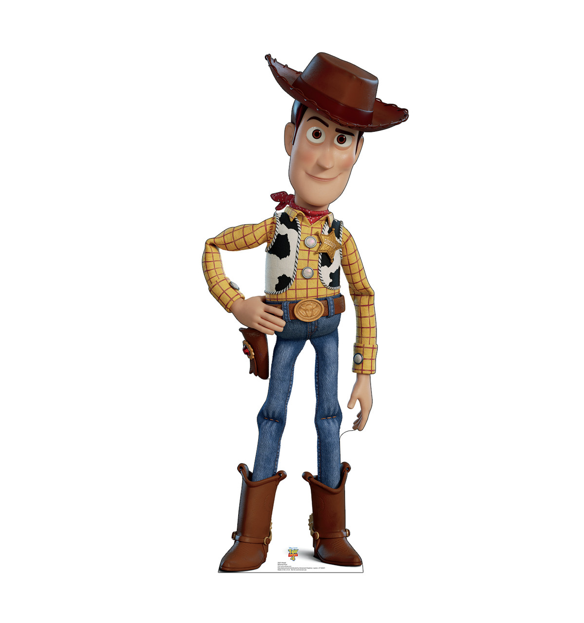 Woody - Life Size Toy Story 4 Cardboard Cutout