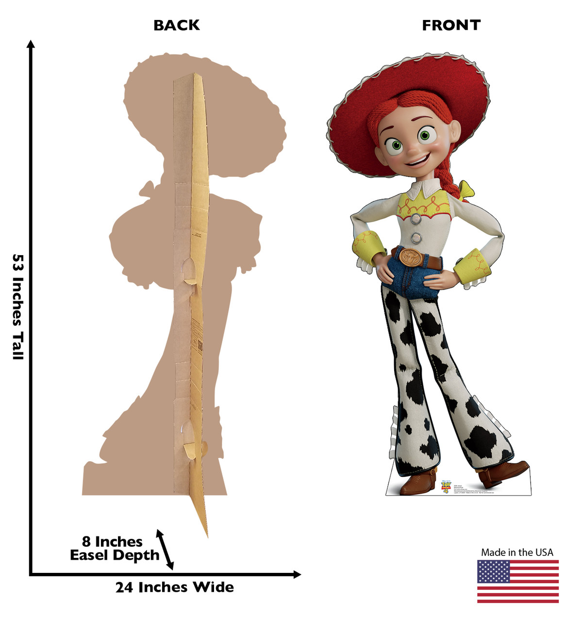 Jessie - Toy Story 4 Cardboard Cutout Front and Back View