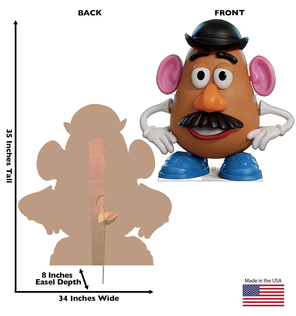 Mr. Potato Head - Toy Story 4 Cardboard Cutout Front and Back View