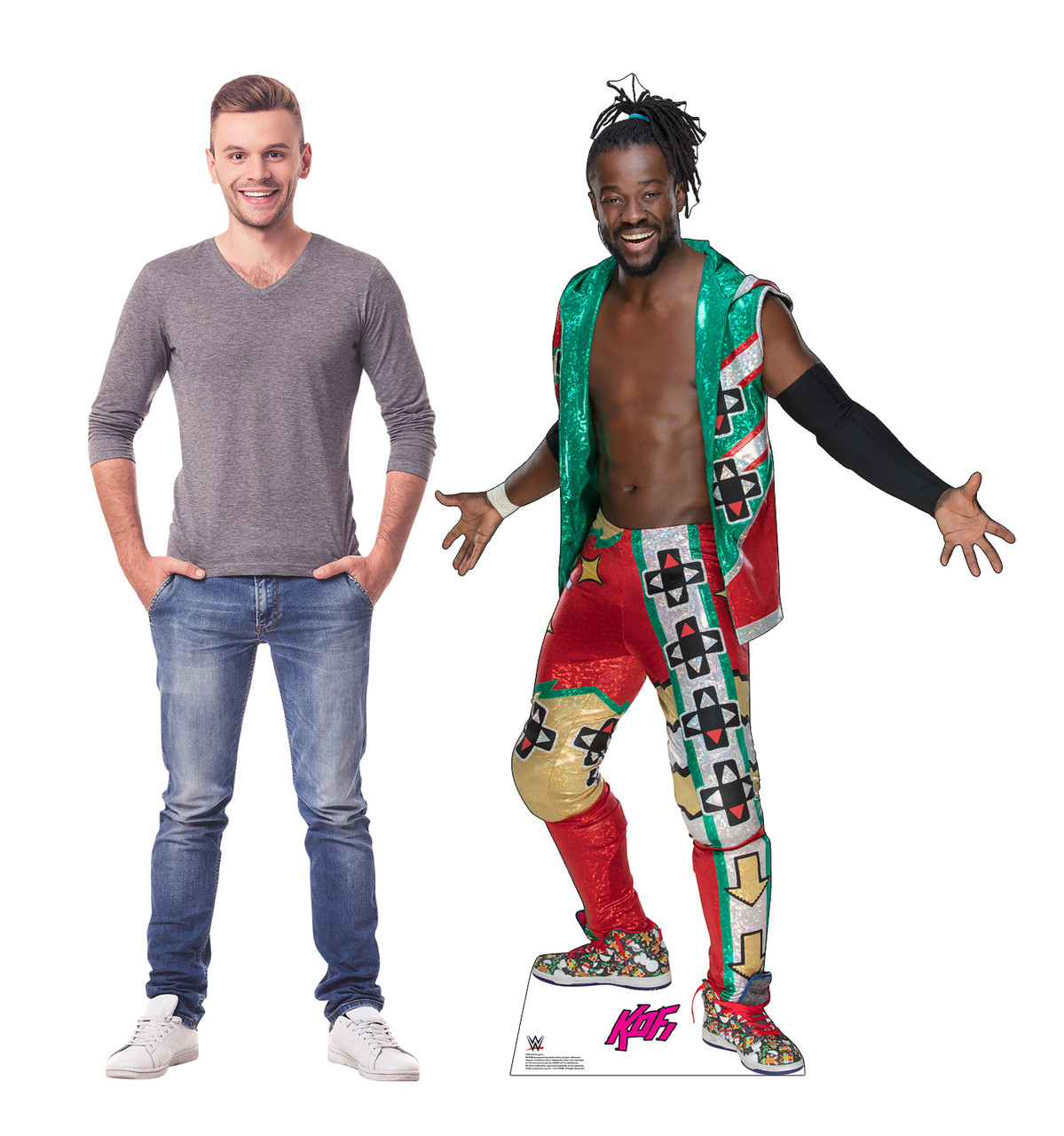Kofi Kingston WWE - Green Vest Cardboard Cutout Lifesize