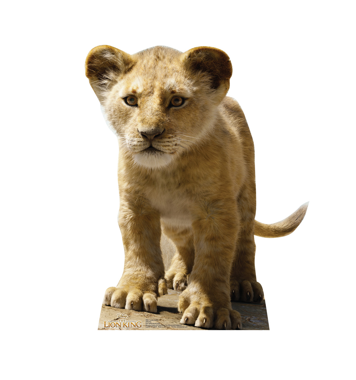 Life-size cardboard standee of Young Simba from Disney's live action film The Lion King Front View