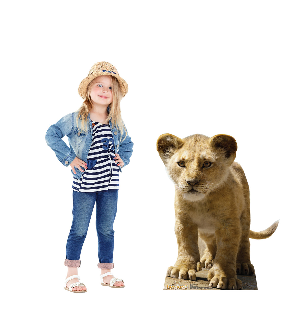 Life-size cardboard standee of Young Simba from Disney's live action film The Lion King with Lifesize
