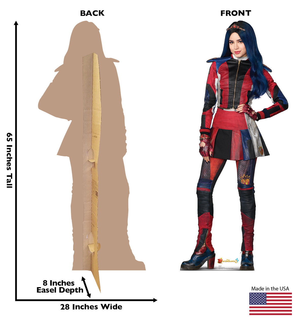 Evie - Disney's Descendants 3 Cardboard Cutout Front and Back View