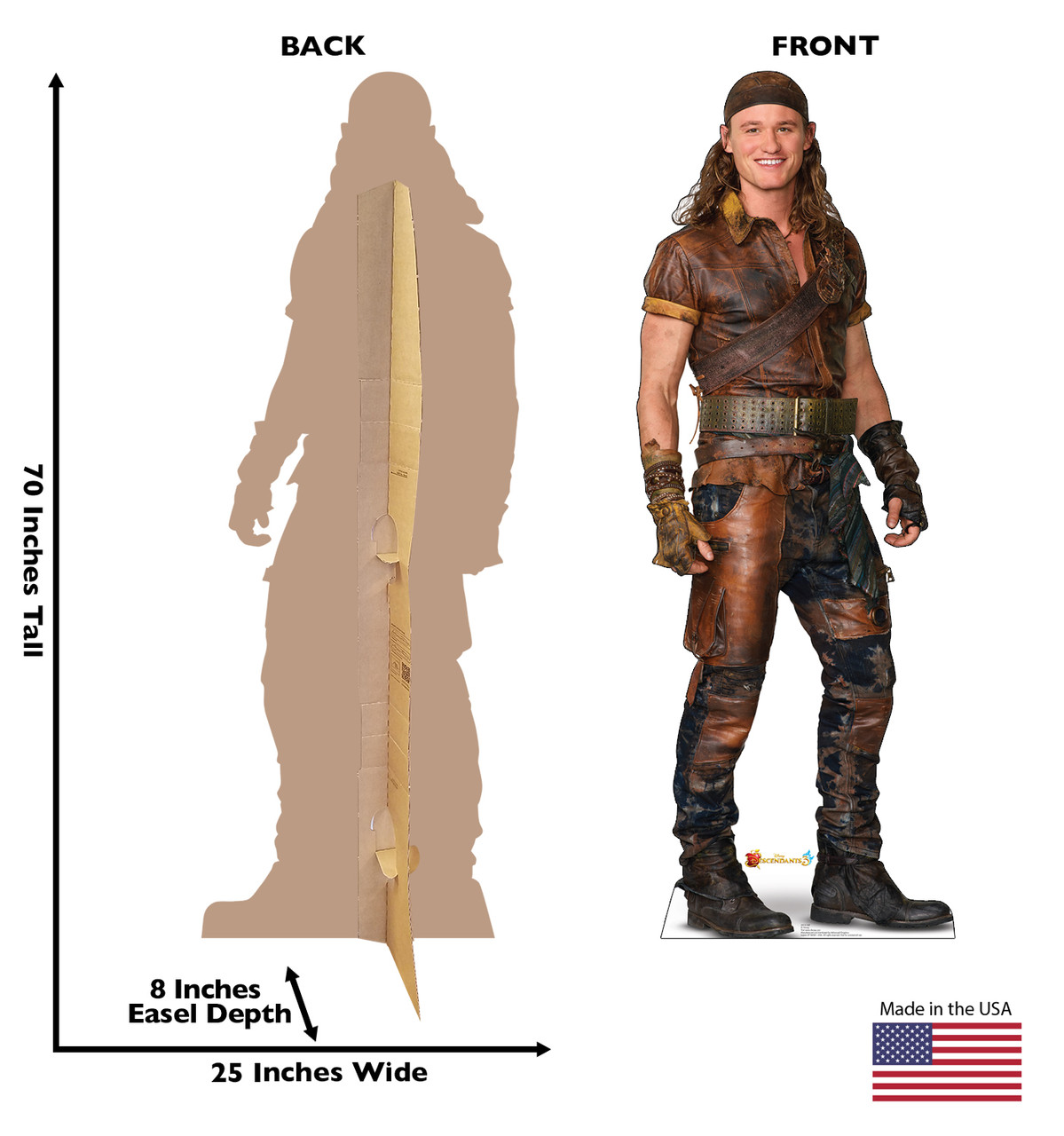 Gil - Disney's Descendants 3 Cardboard Cutout Front and Back View