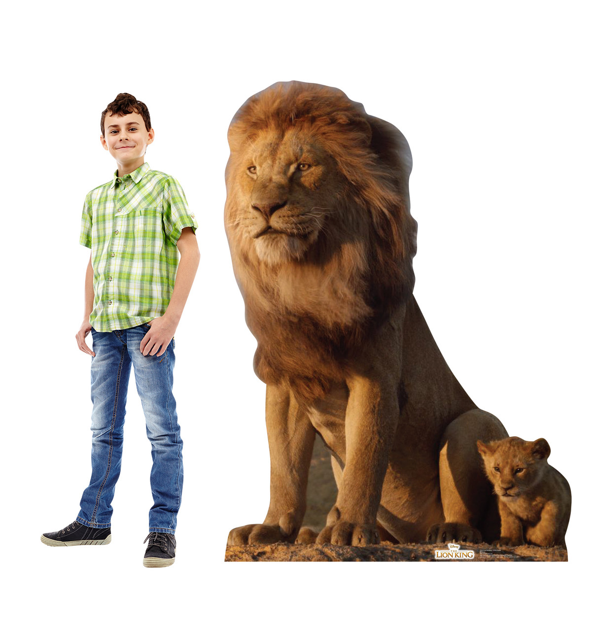 Life-size cardboard standee of King Mufasa and Young Simba from Disney's live action film The Lion King Lifesize