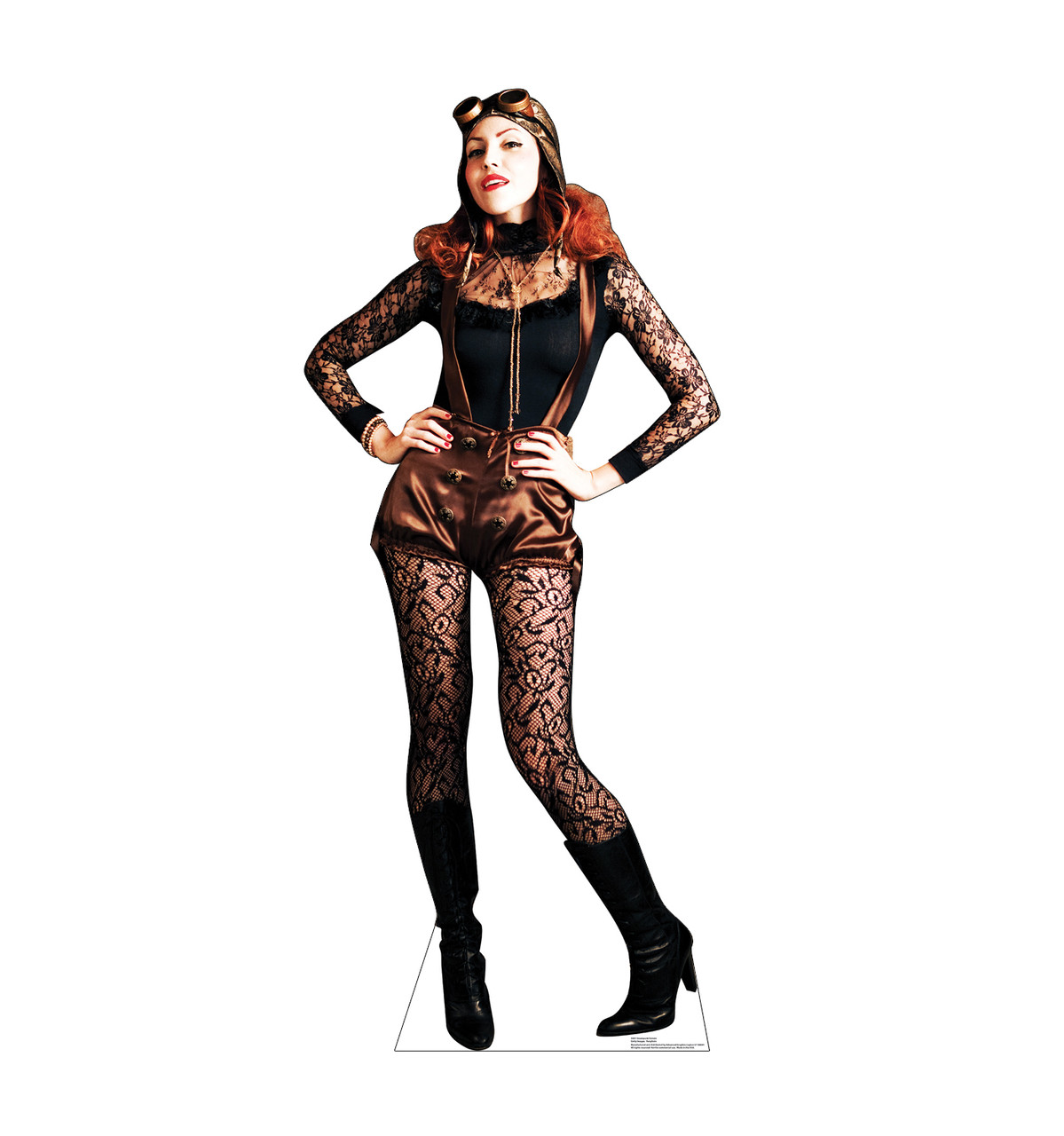 Life-size cardboard standee of Steampunk Female Front View
