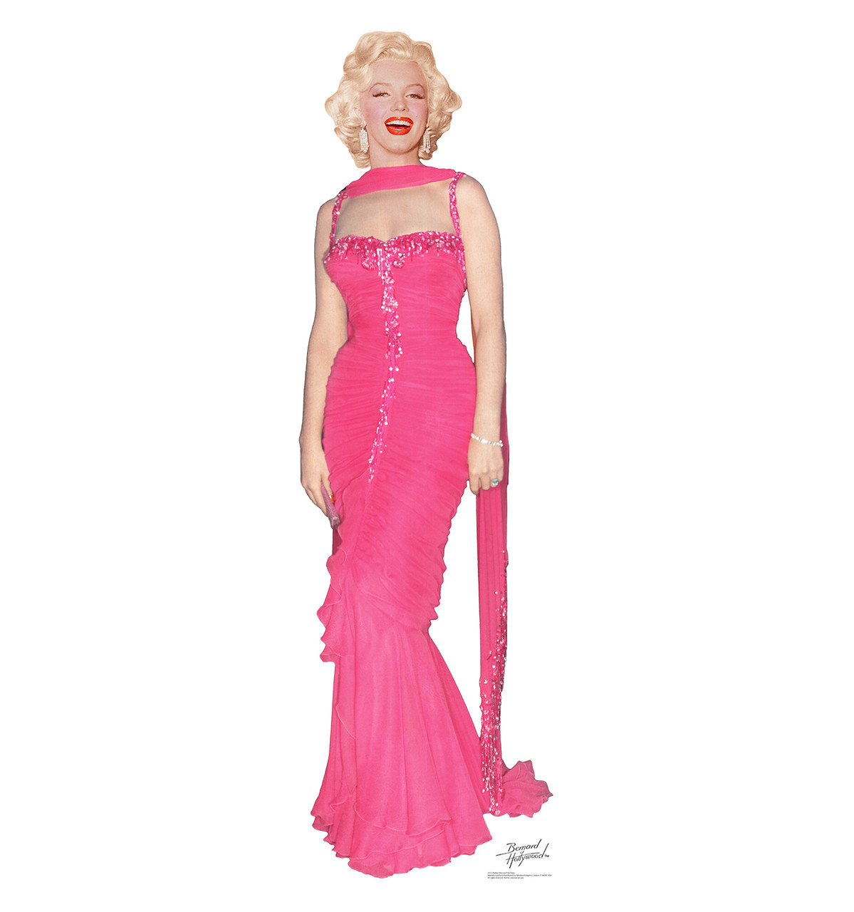 Marilyn Monroe Pink Dress Cardboard Cutout 1012