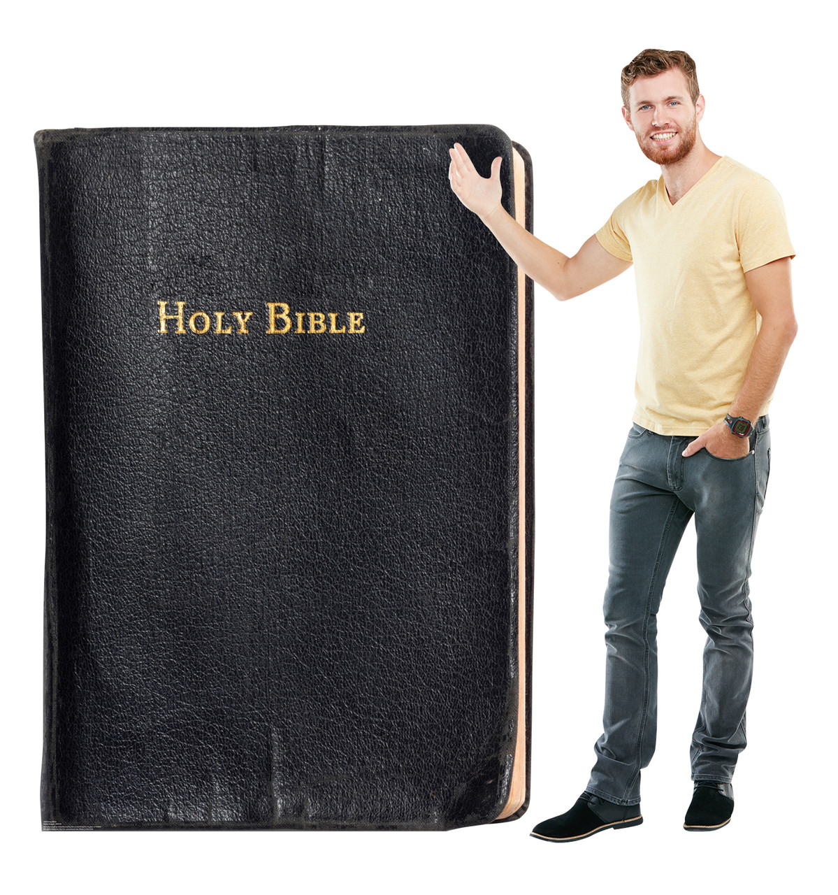 Life-size cardboard standee of The Holy Bible Lifesize