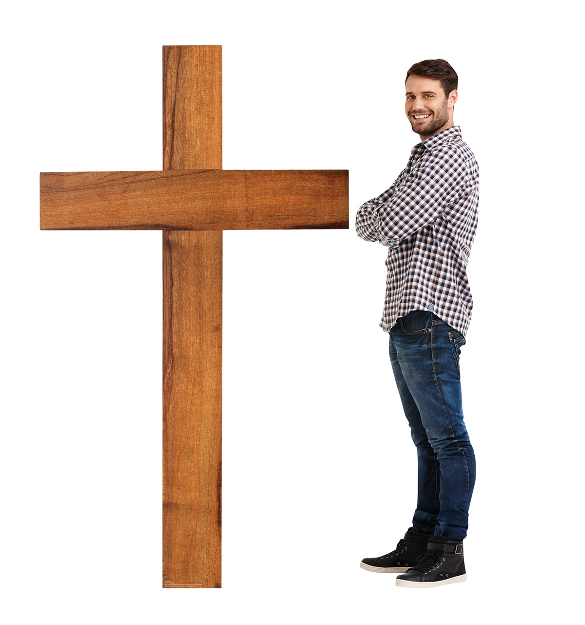 Life-size cardboard standee of a Cross Lifesize