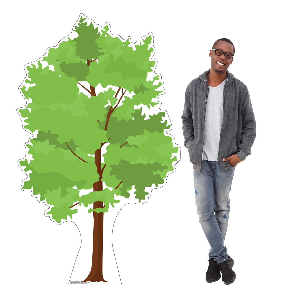 Life-size cardboard standee of a Tree Lifesize