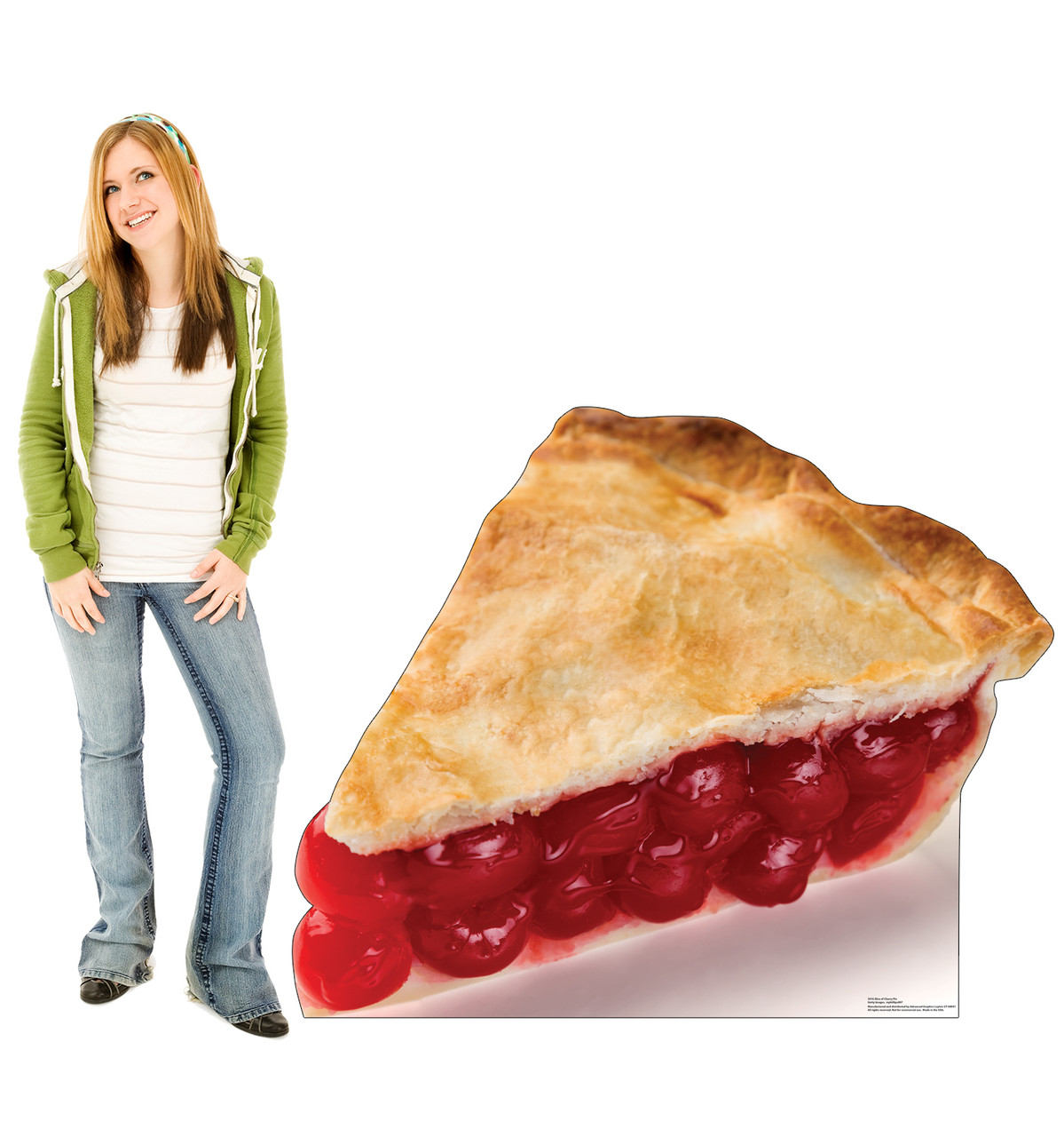 Life-size cardboard standee of a Slice of Cherry Pie Lifesize