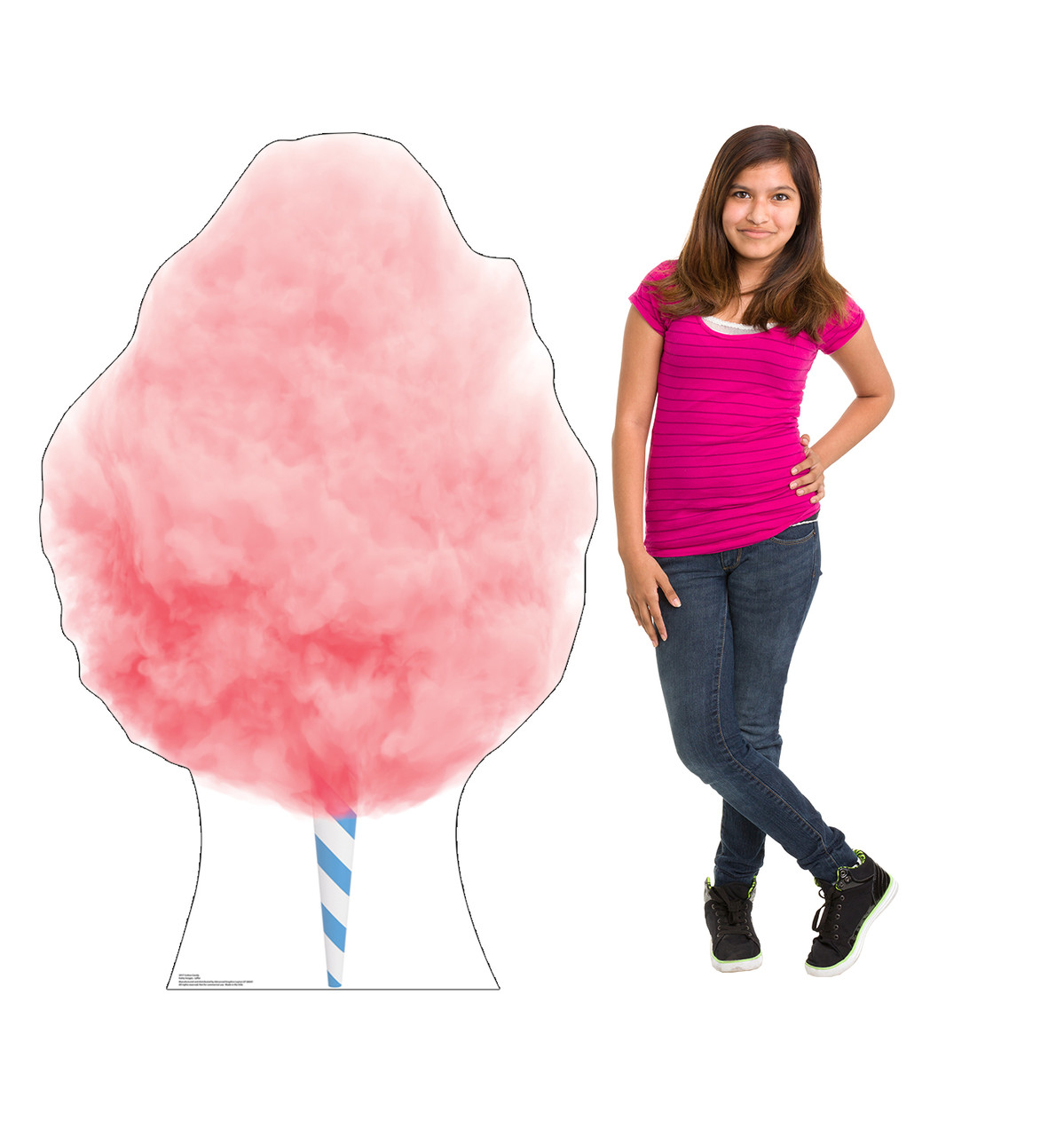 Life-size cardboard standee of Cotton Candy Lifesize