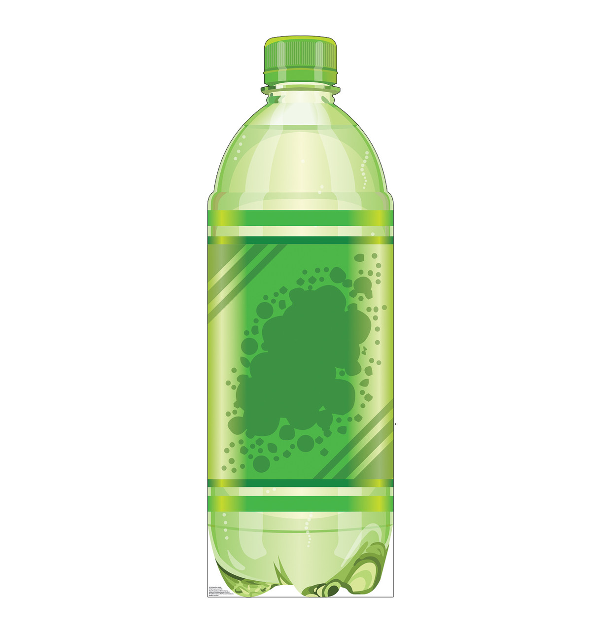 Life-size cardboard standee of a Soda Pop Bottle Front View