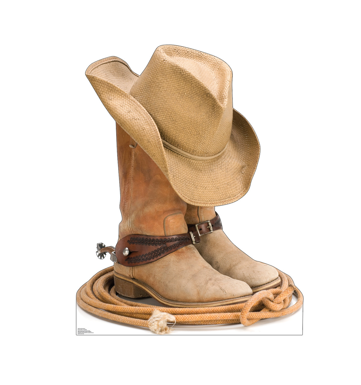 Life-size cardboard standee of Cowboy Boots Front View