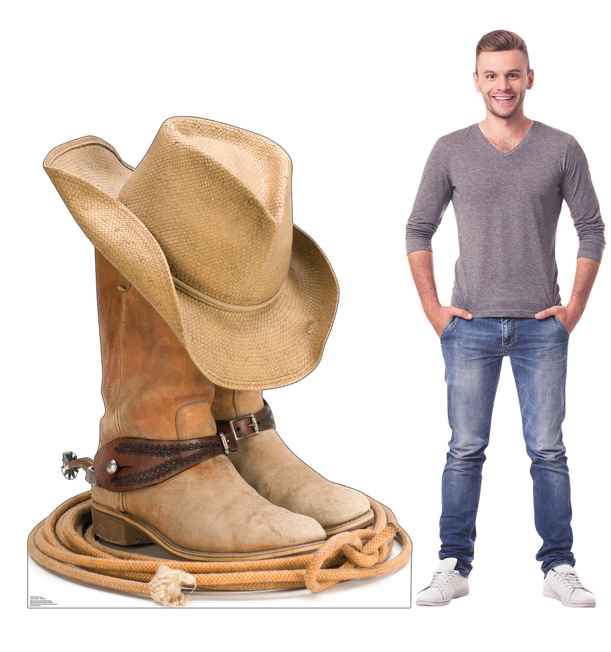 Life-size cardboard standee of Cowboy Boots Lifesize