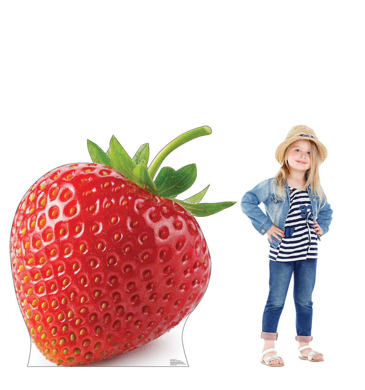 Life-size cardboard standee of a Strawberry Lifesize