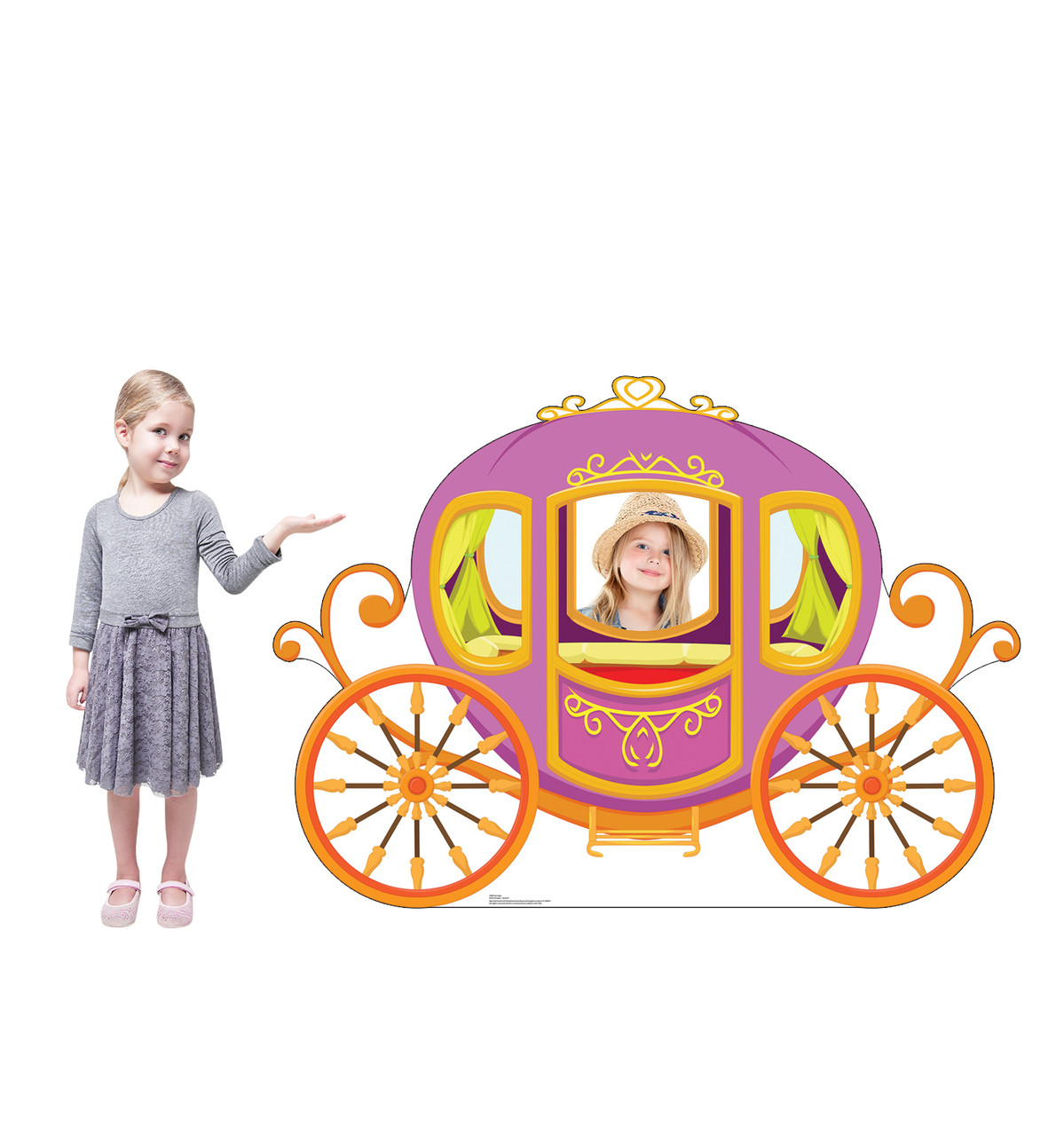 Life-size cardboard standin of a Carriage Lifesize
