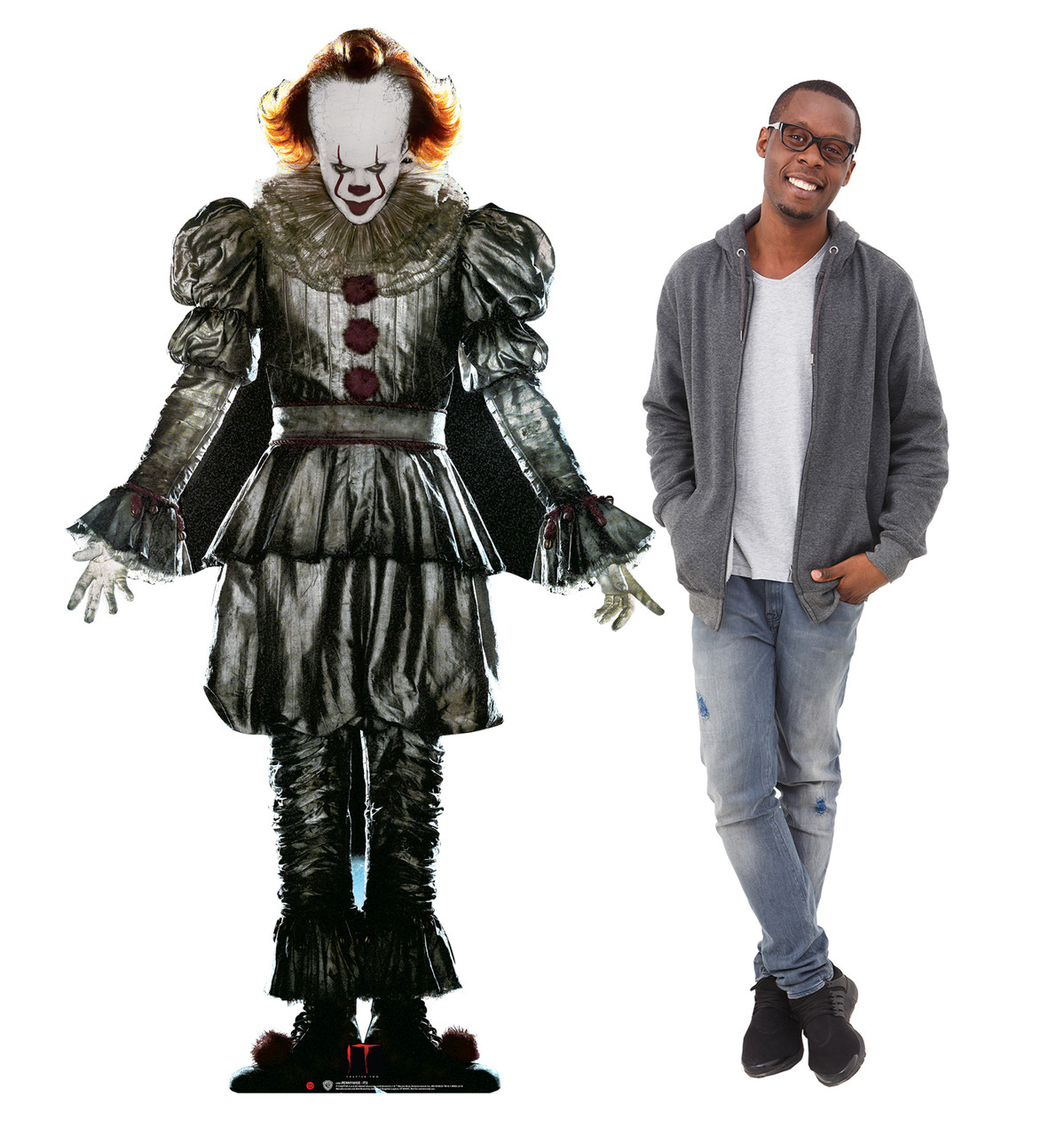 Pennywise from IT Chapter 2 Movie 2019 Cardboard with model Lifesize