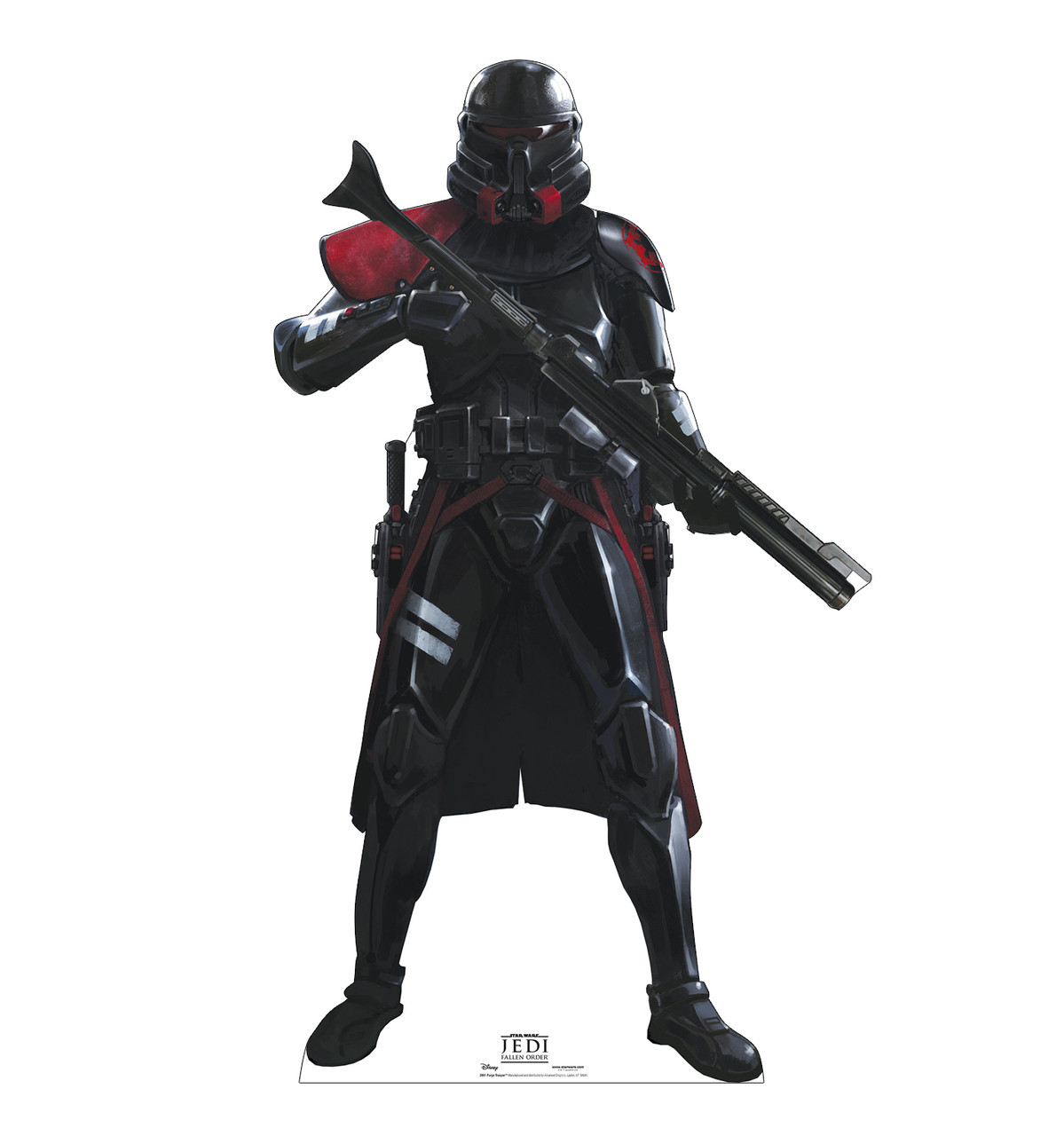 Life-size cardboard standee of Purge Trooper from Jedi Fallen Order.