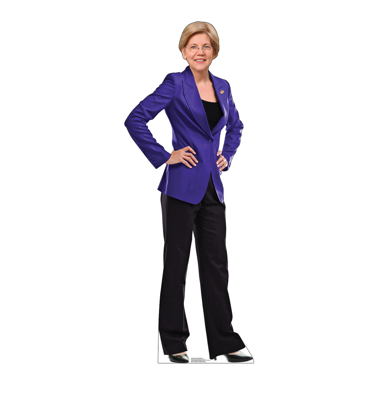 Life-size cardboard standee of Senator Elizabeth Warren.