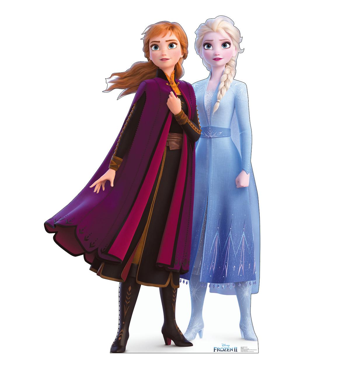 Cardboard Standee Of Anna Elsa Frozen 2 Disney Frozen Anna Elsa