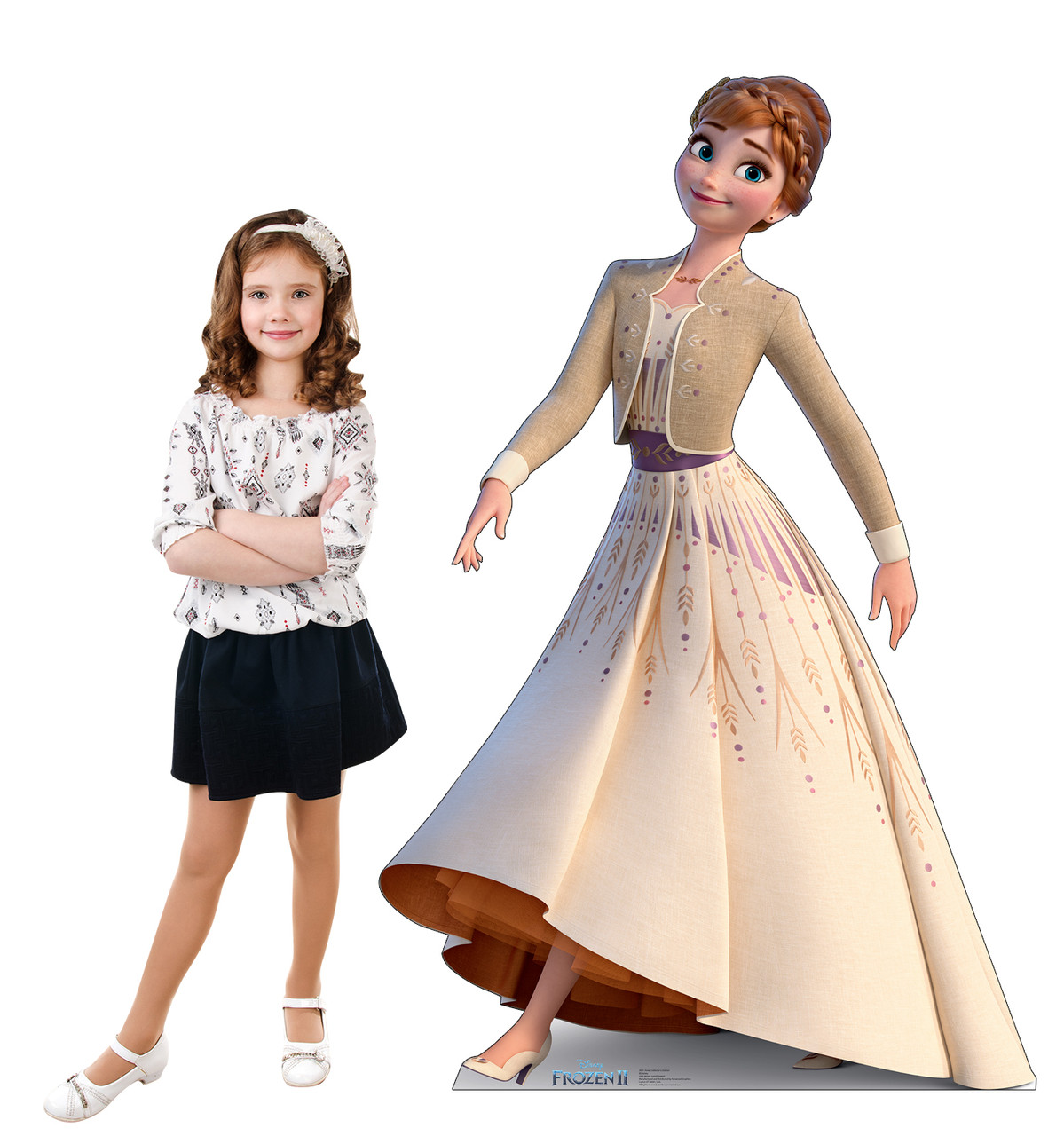 Life-size cardboard standee of Anna (Collector's Edition) from Disney's Frozen 2 with model.