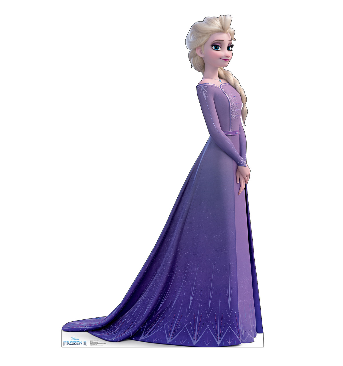 Life-size cardboard standee of Elsa (Collector's Edition) from Disney's Frozen 2.