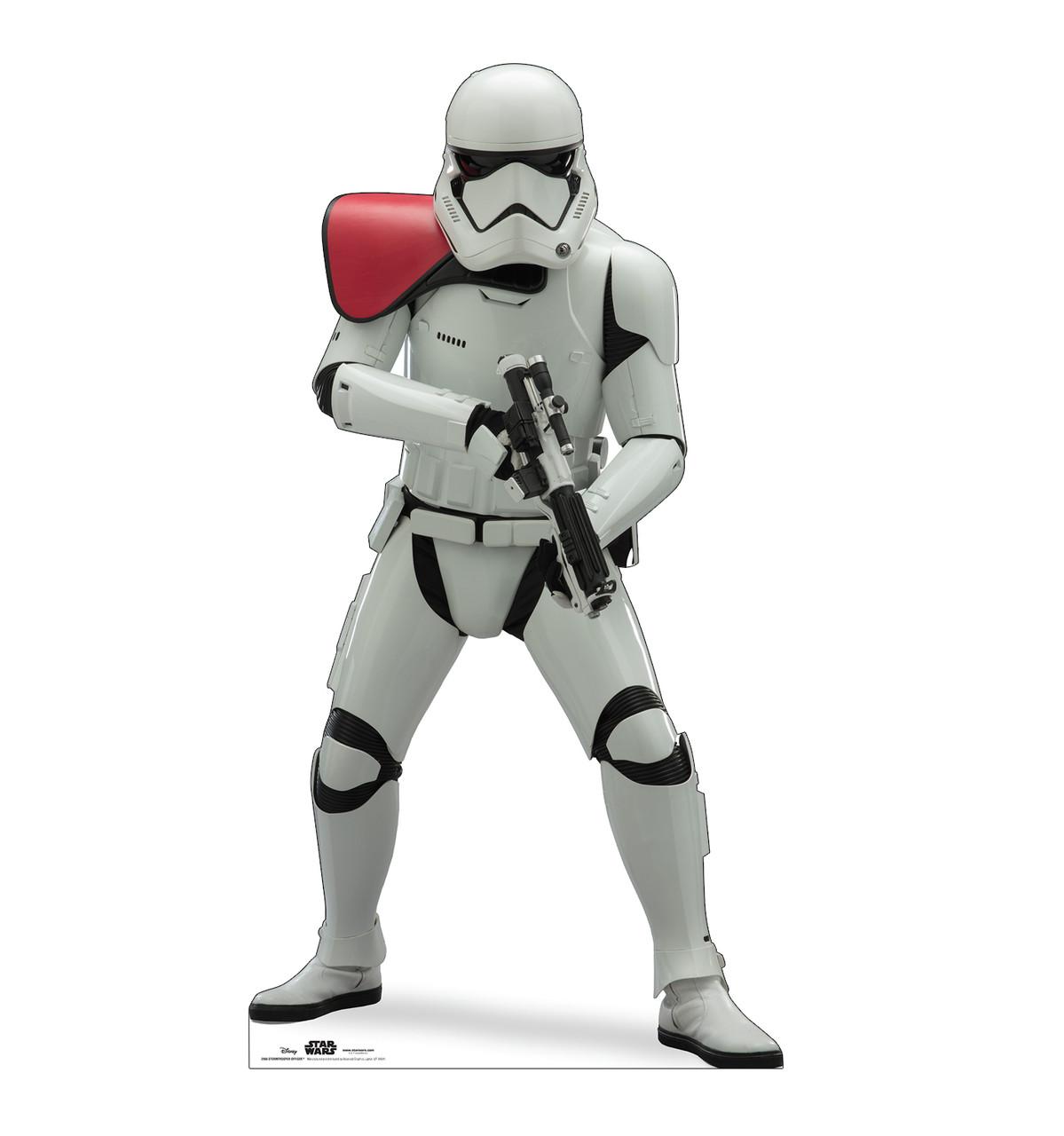 Life-size cardboard standee of Stormtrooper Officer™ (Star Wars IX).