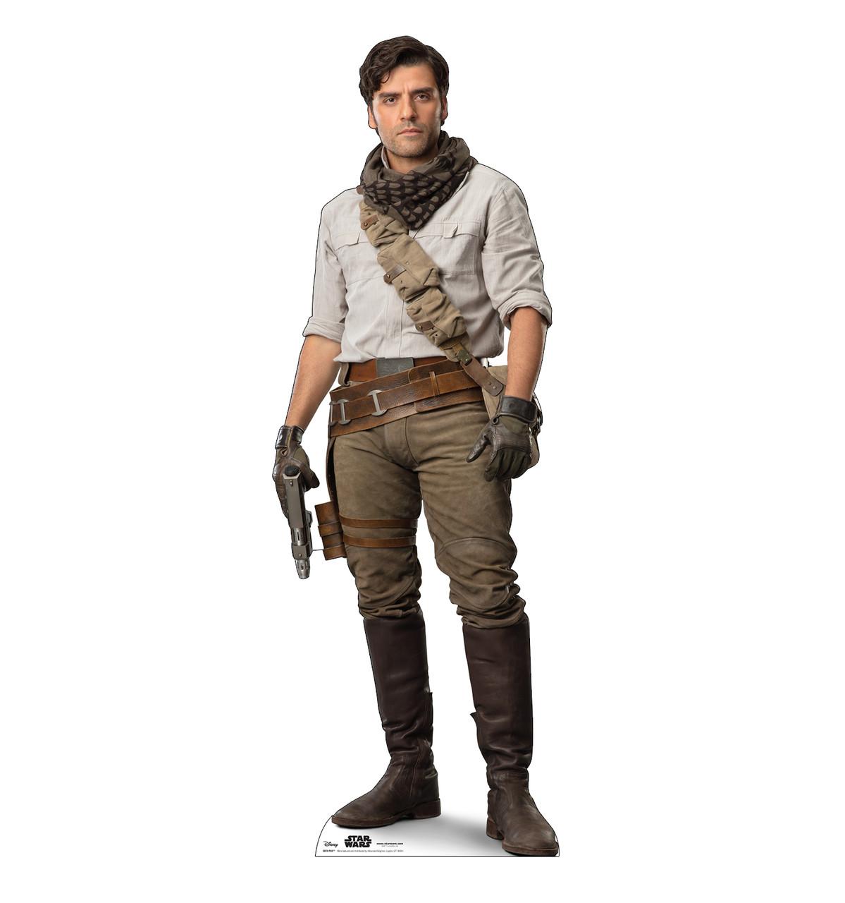 Life-size cardboard standee of Poe™ (Star Wars IX).