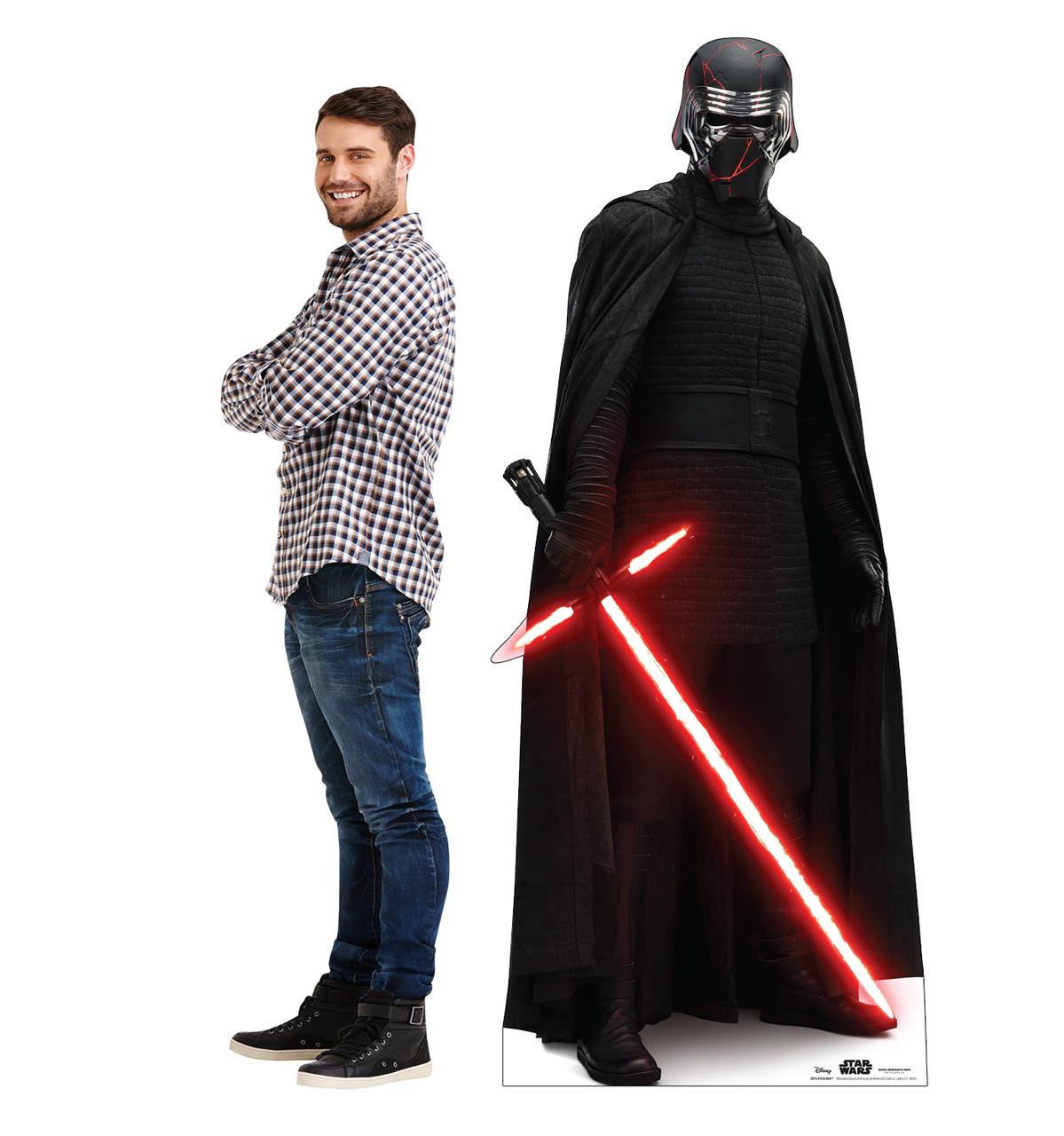 Life-size cardboard standee of Kylo Ren™ (Star Wars IX) with model.