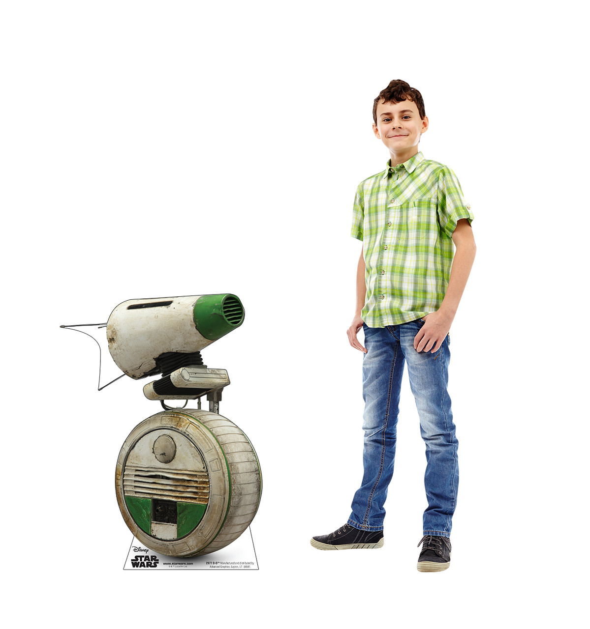 Life-size cardboard standee of D-O™ (Star Wars IX) with model.
