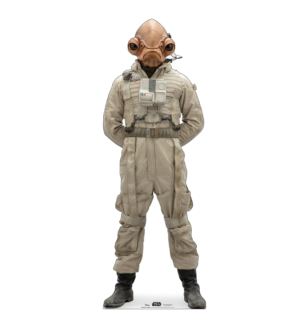 Life-size cardboard standee of Mon Cal General™ (Star Wars IX).