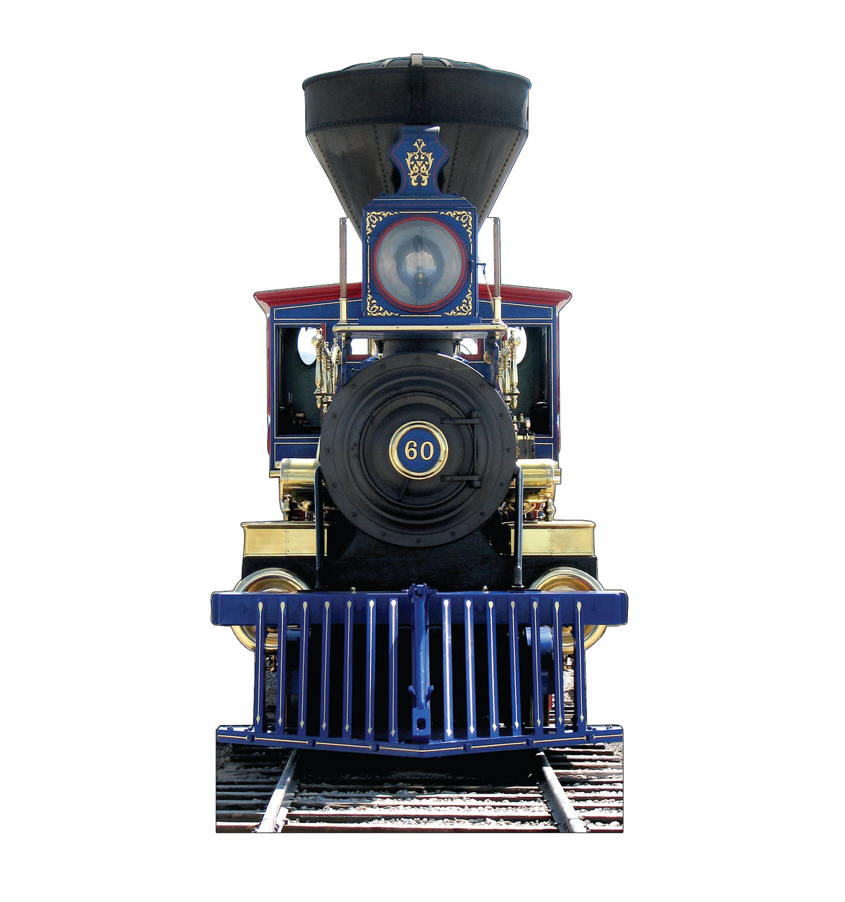 Life-size cardboard standee of CP60 Jupiter Train with sound.