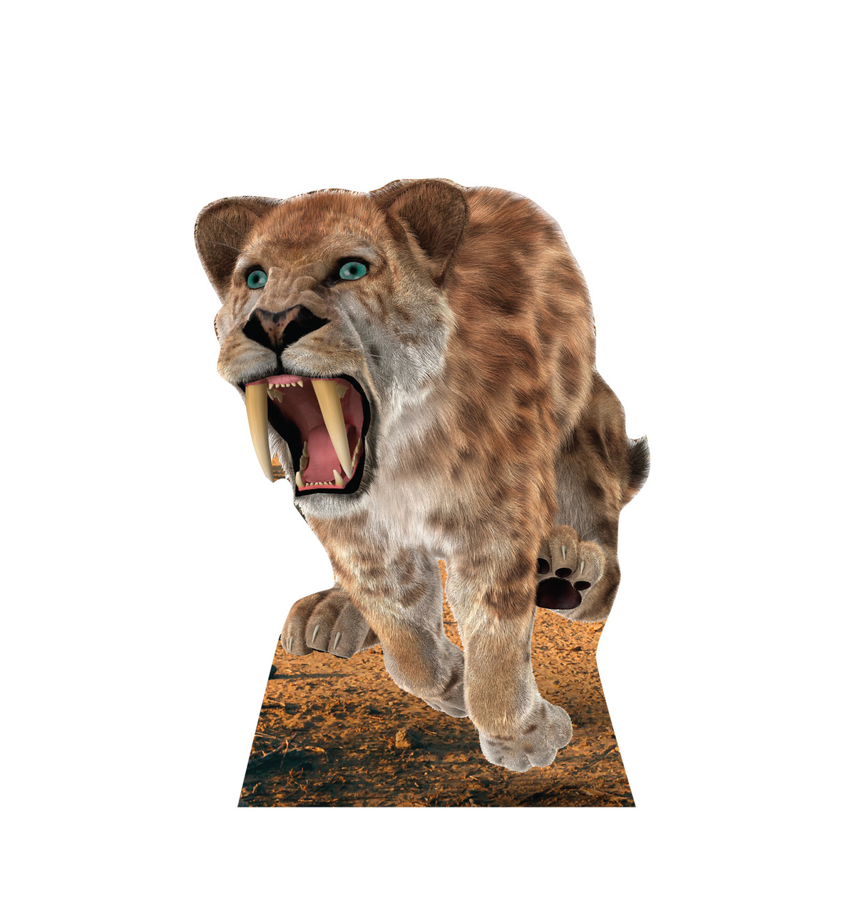 Life-size cardboard standee of the Saber Tooth Tiger.