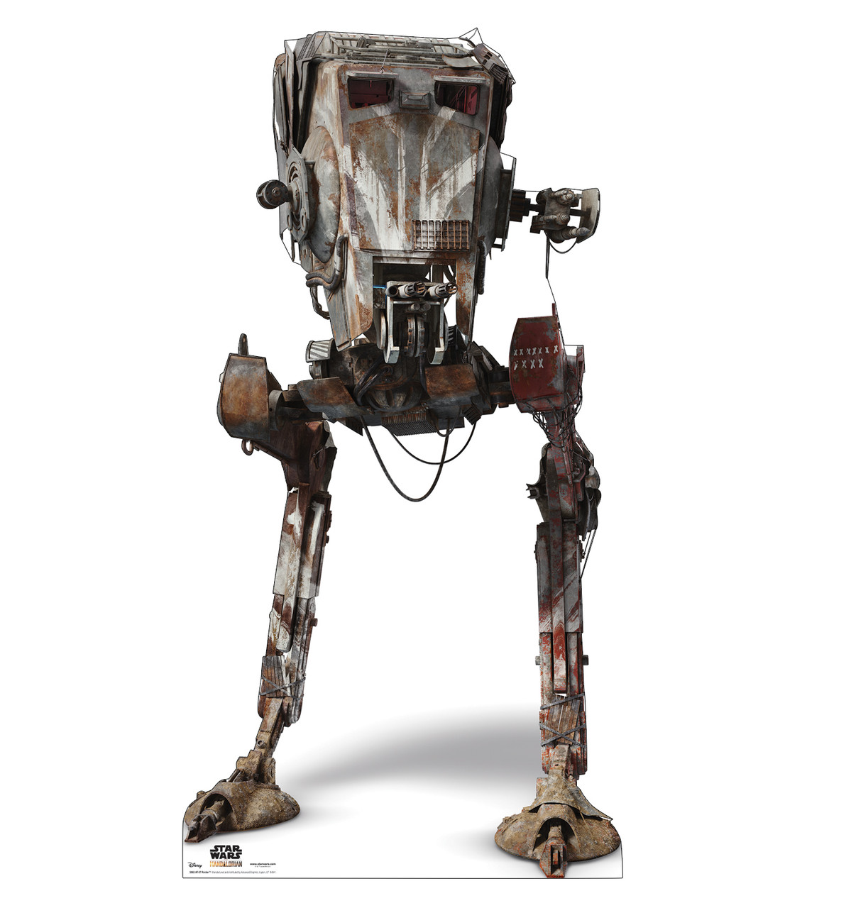Life-size cardboard standee of AT-ST Raider from The Mandalorian.