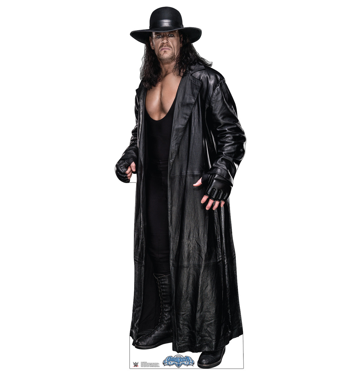 Life-size cardboard standee of the Undertaker from WWE.