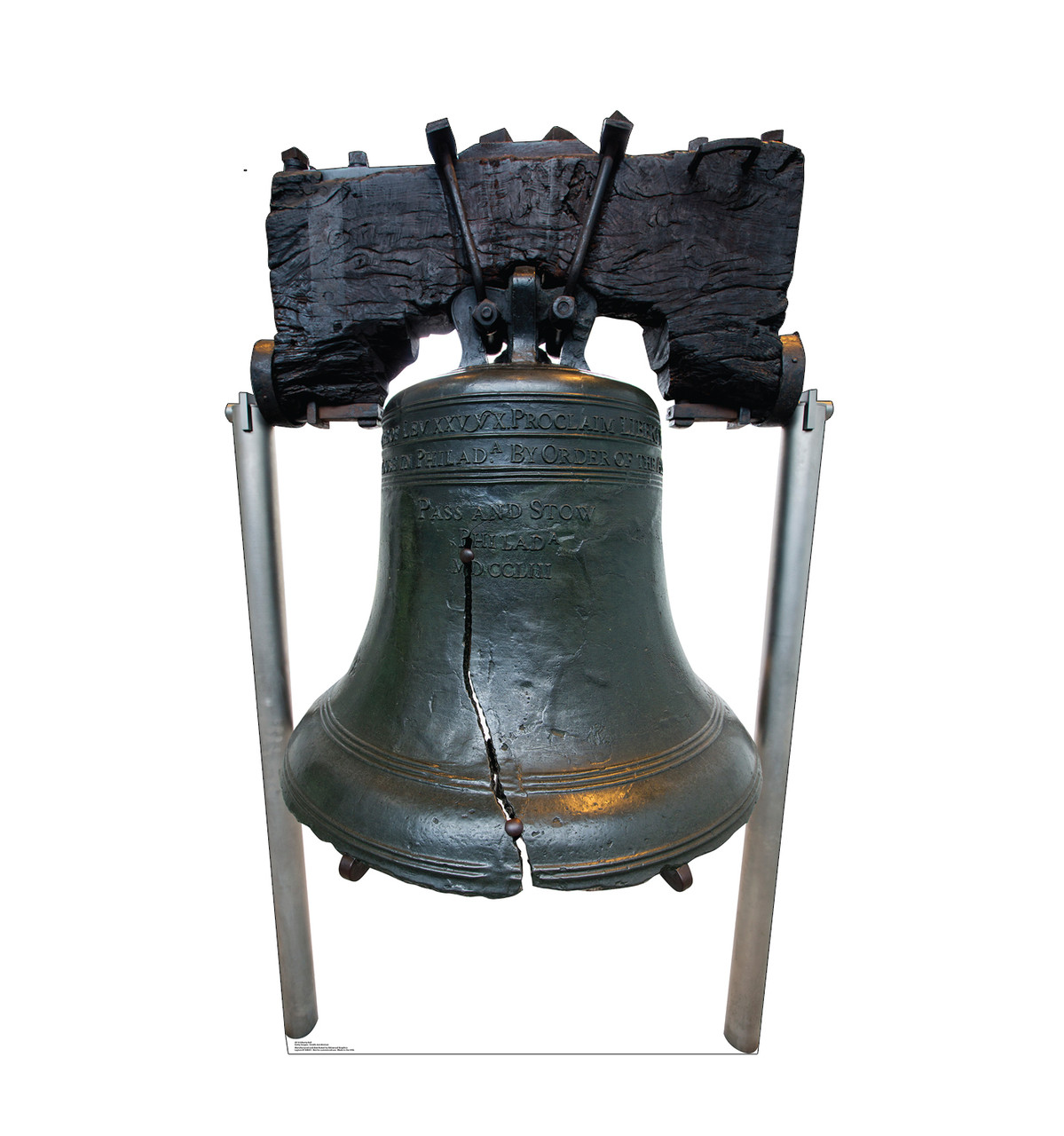 Life-size cardboard standee of the Liberty Bell.
