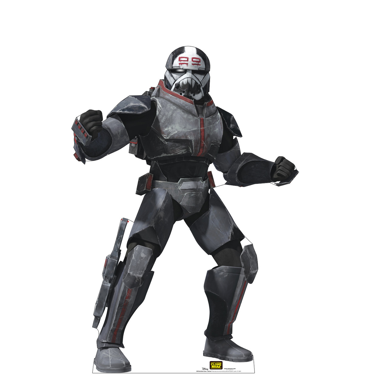 Life-size cardboard standee of the character Bad Batch Clone Wrecker from Clone Wars Season 7.