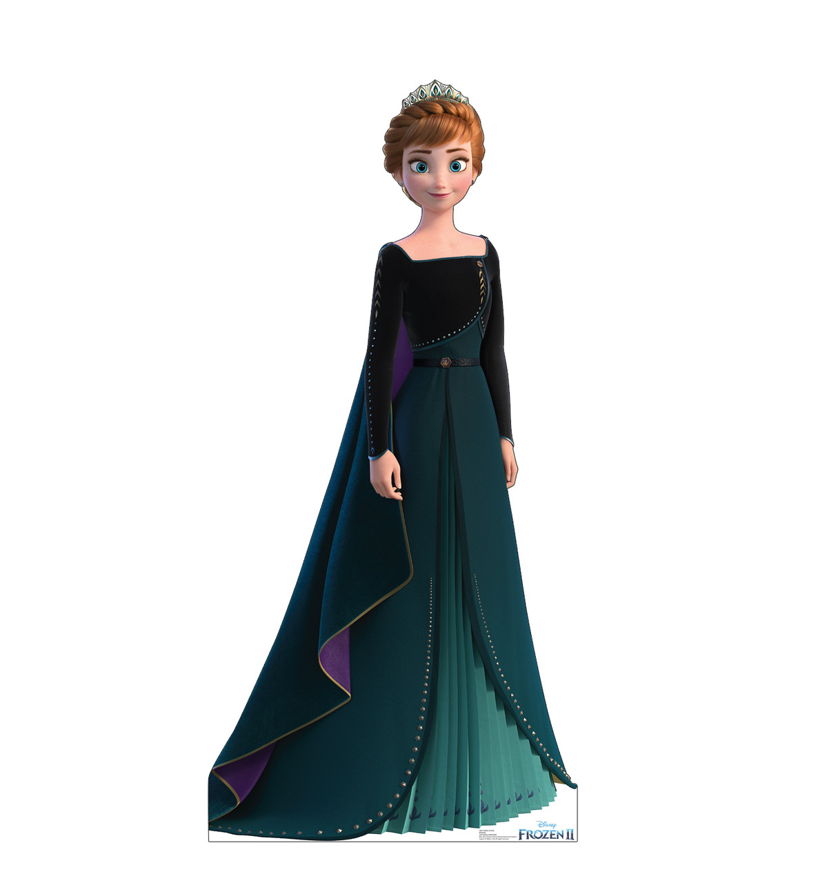 Life-size cardboard standee of Anna Epilogue Gown from Disney's Frozen 2.