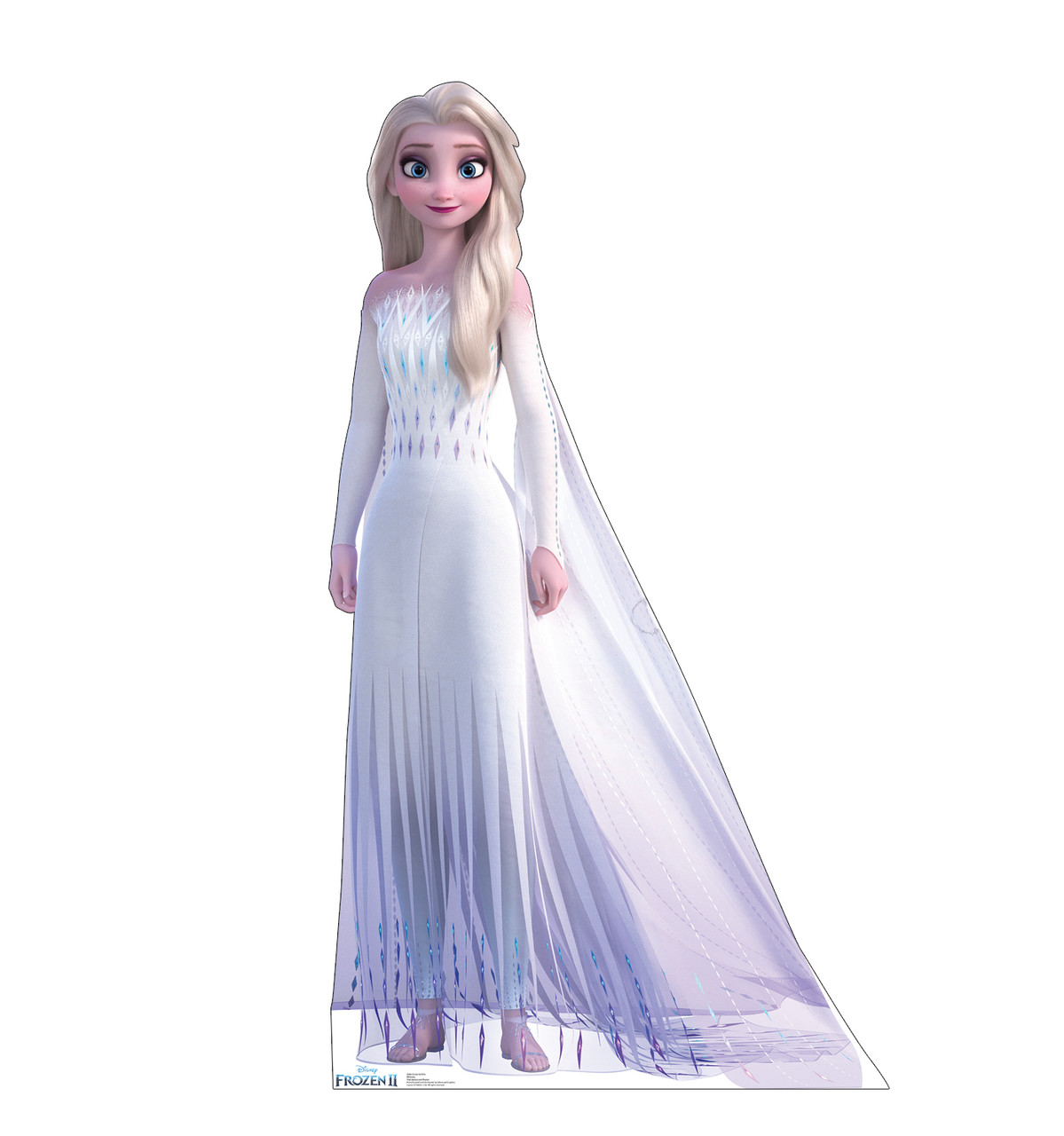 Life-size cardboard standee of Elsa Epilogue Gown from Disney's Frozen 2.