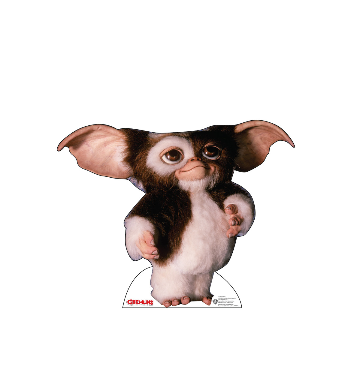 Life-size cardboard standee of GizmoTM from the movie Gremlins.